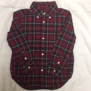 NWOT Xmas Plaid Ralph Lauren Button Down Shirt